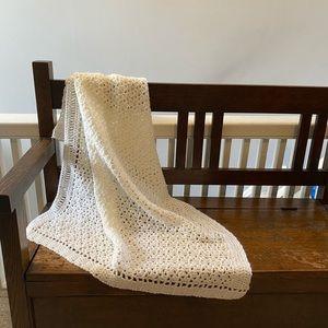 🖤2for$30 vintage crochet Afghan baby pet blanket